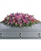 Lavender Tribute Casket Spray Casket Spray