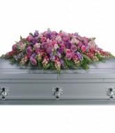 Lavender Tribute Casket Spray H2352A
