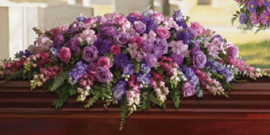 Lavender Tribute Casket Spray  Same Day Delivery  in Oakville, ON | ANN'S FLOWER BOUTIQUE-Wedding & Event Florist