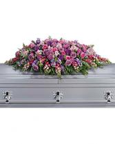 Lavender Tribute Casket Spray sympathy arrangements