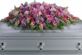 Lavender Tribute Casket Spray T235-2B