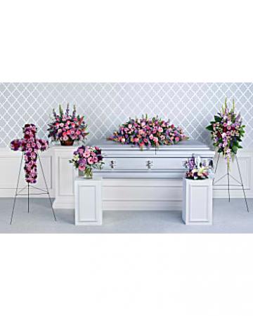 Lavender Tribute Collection sympathy arrangements