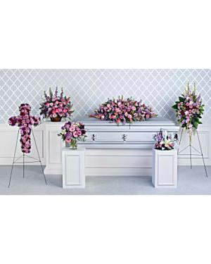 Lavender Tribute Collection Sympathy Combo in Miami, FL   FLOWERTOPIA