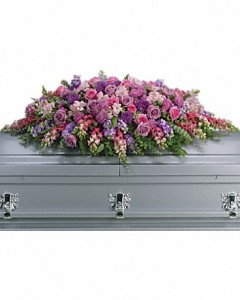Lavender Tribute Full Casket in Storrs, CT | THE FLOWER POT