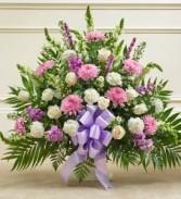 Lavender Tribute Sympathy Basket