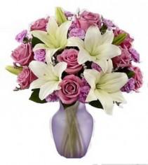 Lavender Twilight Mixed Flower Bouquet EF09