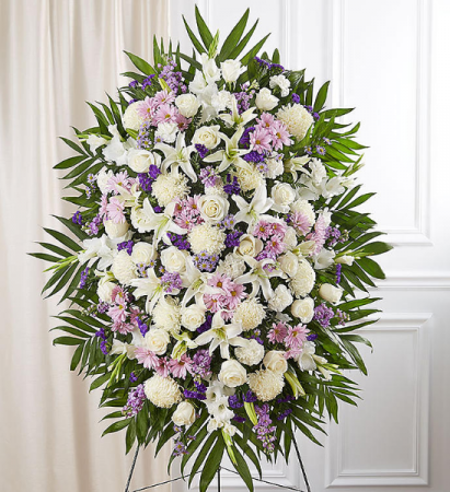 Lavender, White and Purple Standing Spray