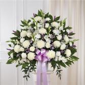 Lavender & White Standing Basket