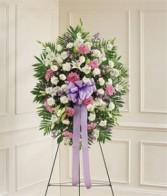 Lavender & White Standing Spray Funeral