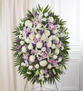 Lavender & White Sympathy Standing Spray Standing Sprays & Wreaths