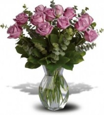 Lavender Wishes Roses Arrangement