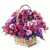 Lavender Wishes Basket of Flowers/READ DESCRIPTION