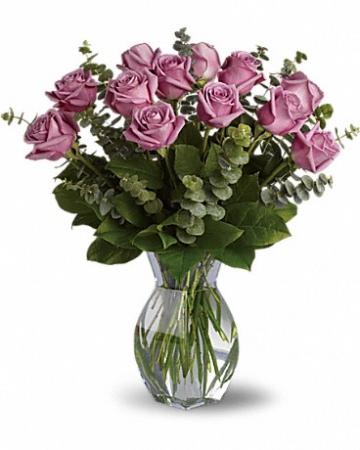 Lavender Wishes - Dozen Premium Lavender Roses x