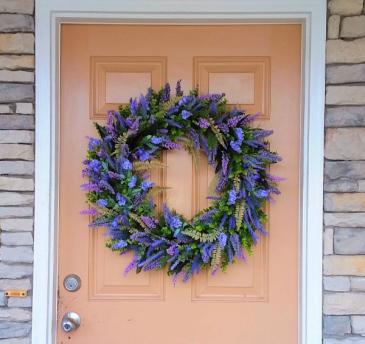 Lavender Wreath Front Door Wreath