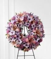 Lavender Wreath Funeral Wreath