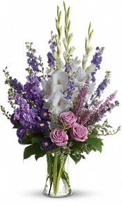 Lavender Brilliance Vase Arrangement