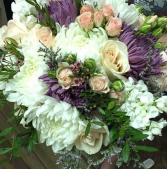 Lavenders and pinks Bridal bouquet