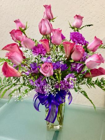 Lavender's Divine Roses and Seasonal Mix