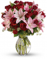 Lavish Love with Long Stemmed Red Roses Bouquet