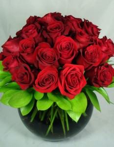 Lavish Rose Bowl- 3 Dozen Roses Pave