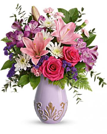 Lavishly Lavender Bouquet Teleflora's Ceramic Vase
