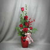 LCF-MY HEART IS YOURS! VASE ARRANGEMENT