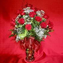 LCF-RADIANT ROSES 2 dozen rose arrangement