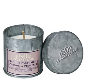 Le Chatelard Lavender Scented Candle in Metal Tin