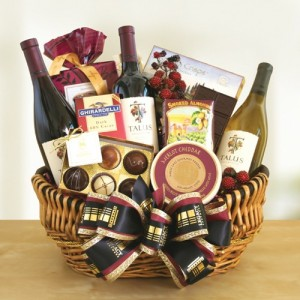 Le Grand Vin Premium Wine Basket in Millstadt, IL | BLISS FLORAL & GIFTS