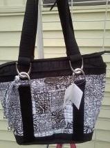 leah salt & pepper donna sharp quitled purses