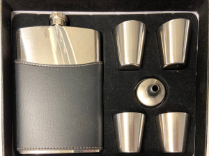 Men's Elite Leather Flask Set  in North Platte, NE | PRAIRIE FRIENDS & FLOWERS