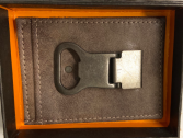 Leather Money clip with Bottle Opener