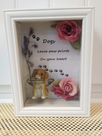 Leave paw prints Gift shadow box