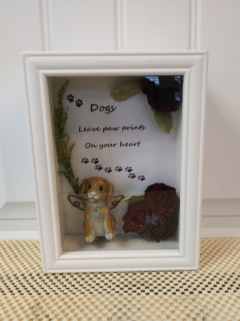 Leave paw prints on your heart Gift shadow box