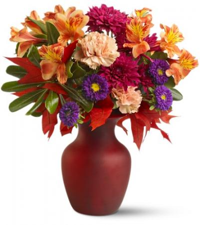 The Heat of Autumn All-Around Floral Arrangement