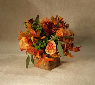 Leaves of Fall  Fresh Flower arrangement
