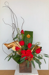Leaves of Gold Arrangement/Keepsake