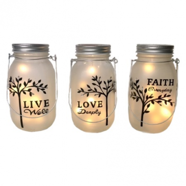 LED Lighted tree of life Hanging Jars set gift