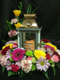LED Memory Lantern Lantern With Flowers
