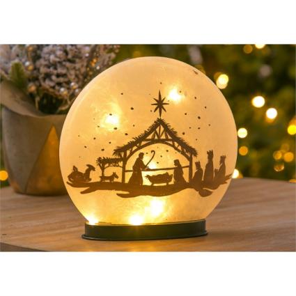 LED Oval Nativity Scene