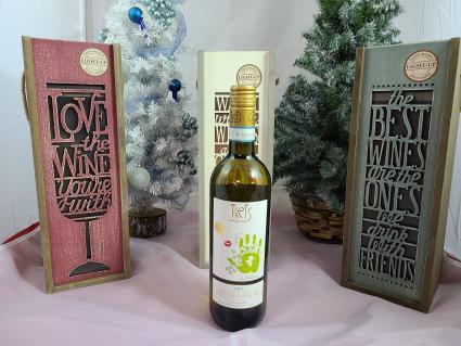 Light up wine box with WINE!