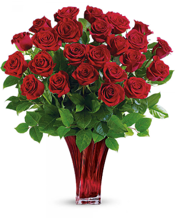 Legendary Luxury Love Bouquet Red Roses Arrangement