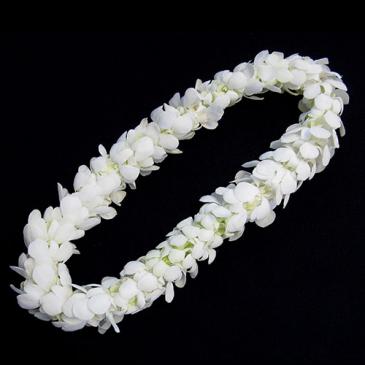 Lei - double white Double row bloom