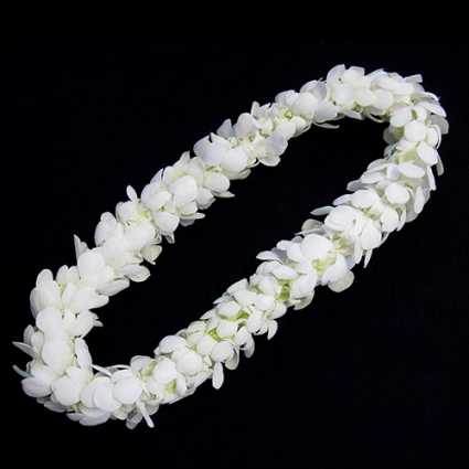 Lei - double white Double row bloom