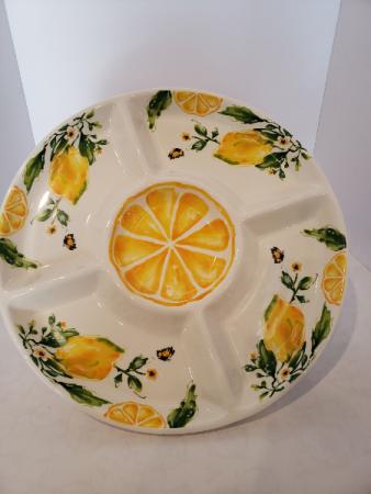 Lemon Ceramic Serving Tray Giftware