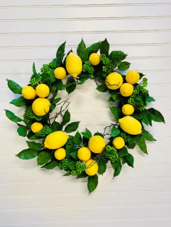 Lemon Drop Artificial Door Wreath