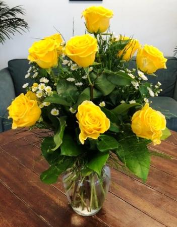 Lemon Drop Rose Arrangement