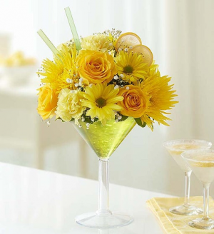 Lemon Martini Bouquet™  in Valley City, OH | HILL HAVEN FLORIST & GREENHOUSE