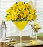 Lemon Martini fresh flowers