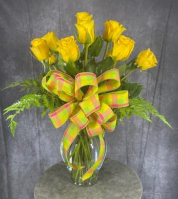 Lemon Sherbert Vase Arrangement